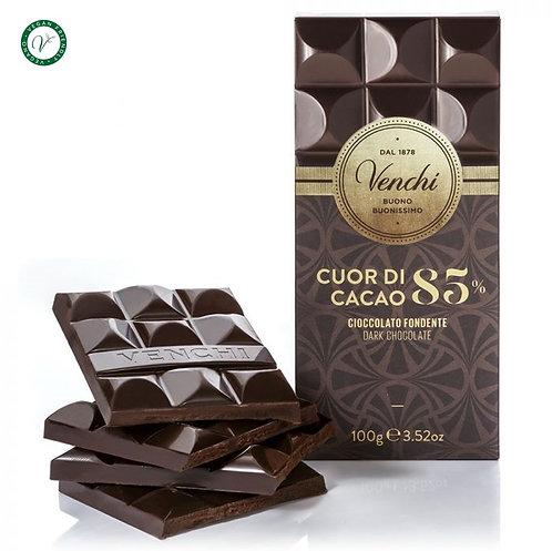 Venchi pure chocoladereep 85% - 24stuks
