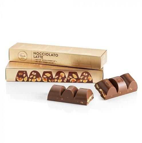 Venchi blok melkchocolade met hazelnoten - 12stuks