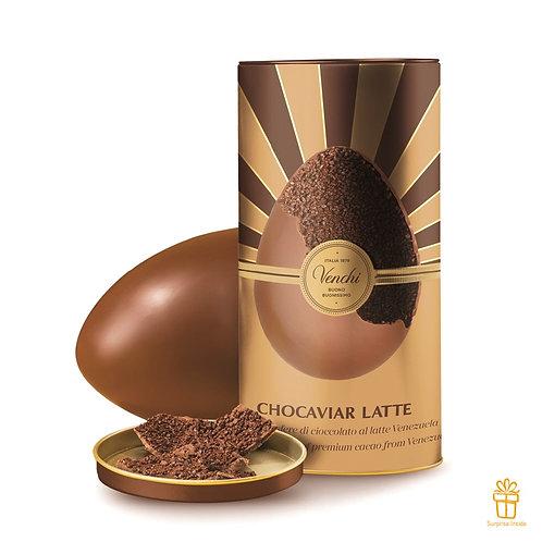 Gourmet Chocoviar groot melkchocolade paasei in metalen blik - 1stuk