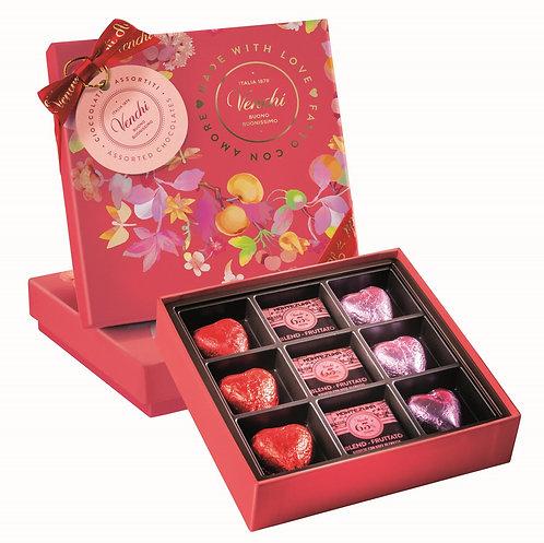 Chocolade geschenkdoos 'fatto con amore' - 10stuks