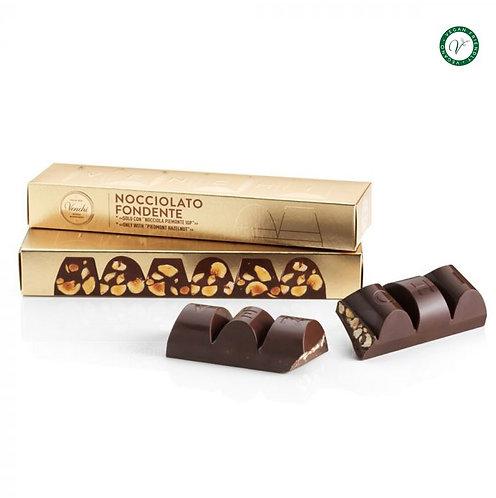 Venchi blok pure chocolade met hazelnoten - 12stuks