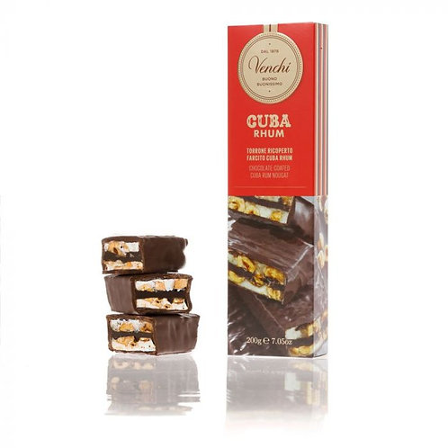 Chocolade nougatreep met rum - 12stuks