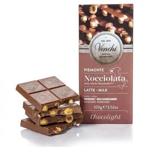 Melkchocolade hazelnootreep Chocolight - 24stuks