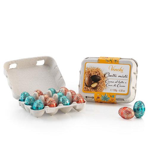 Chocolade paaseitjes in medium eierdoosje - 12stuks