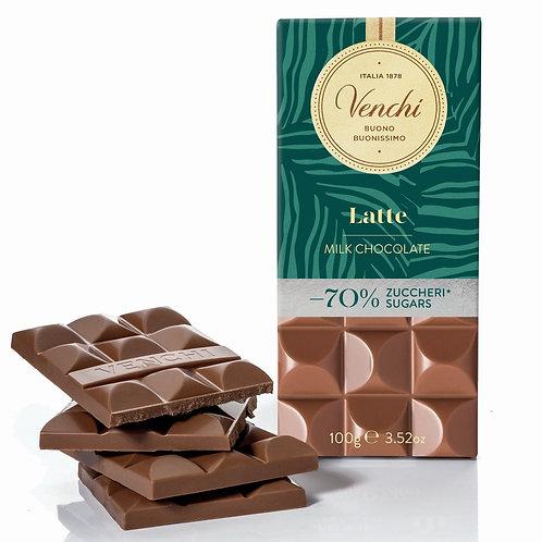 Melkchocoladereep -70% suiker - 24stuks