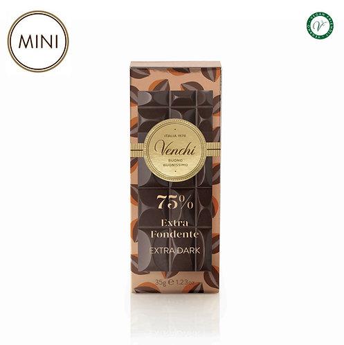 Mini chocoladereep puur 75% - 32stuks