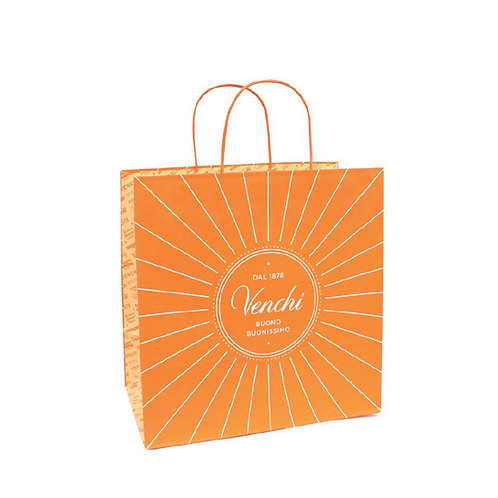Oranje shopper, large - 10stuks
