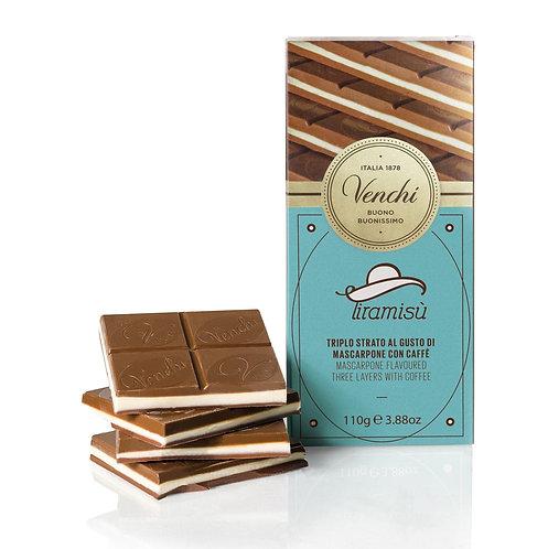 Venchi Tiramisù chocoladereep - 24stuks