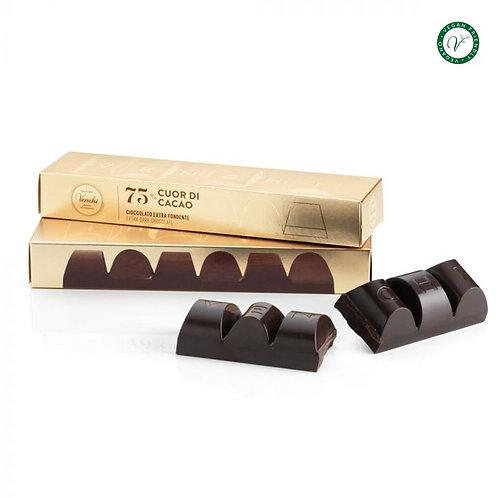 Venchi 75% pure chocolade blok - 12stuks