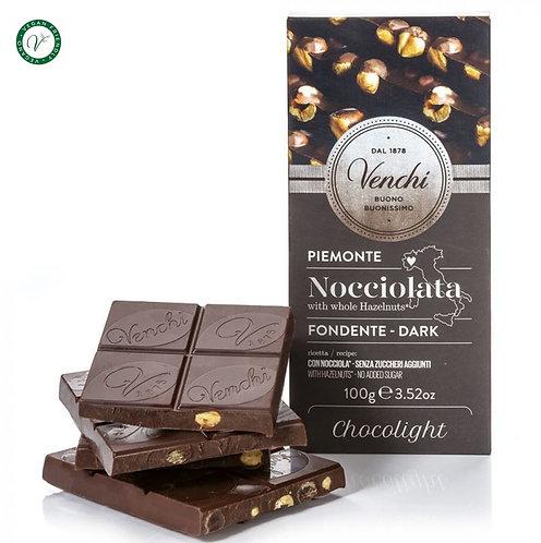 Pure chocolade hazelnootreep Chocolight - 24stuks