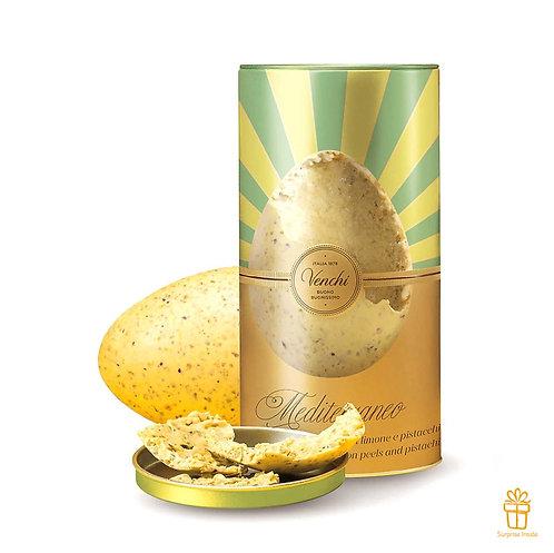 Mediterraneo Gourmet groot chocolade paasei in blik - 1stuk