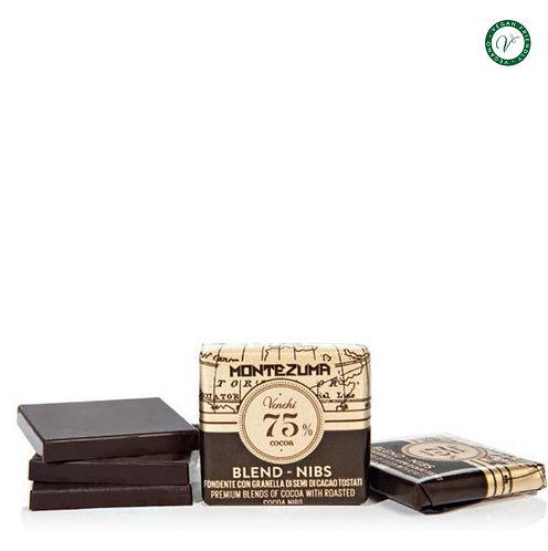 Pure napolitain van 75% cacao met Montezuma nibs - 3kg