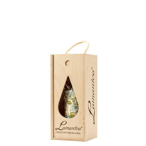 Houten geschenkkistje voor 500ml keramiek fles - 1stuk