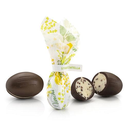Paaseitje van pure chocolade met stracciatella - 1kg