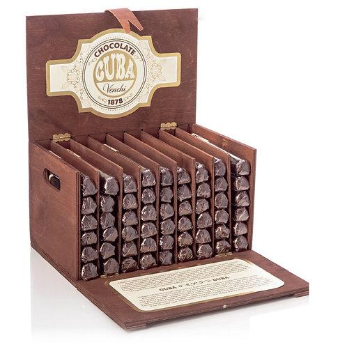 Chocolade sigaren in houten kist - 54stuks
