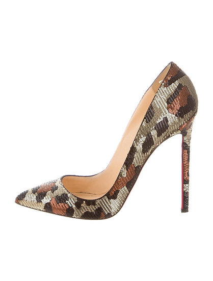 Christian Louboutin Sequin Pigalle Size 38.5