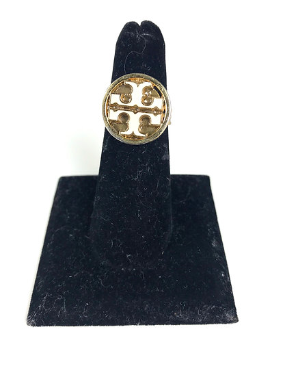Custom Tory Burch Button Adjustable Ring