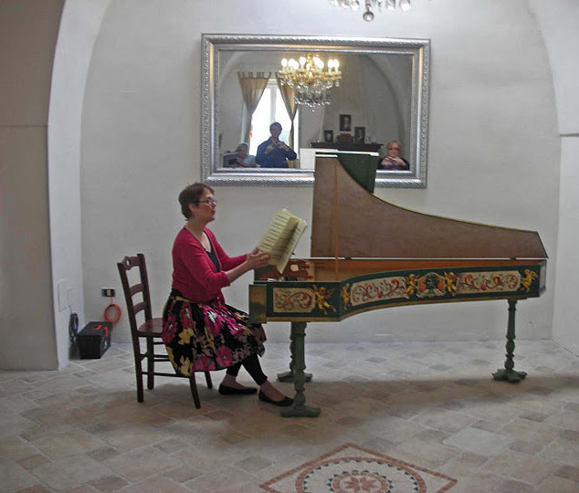 Piano recital in ballroom
