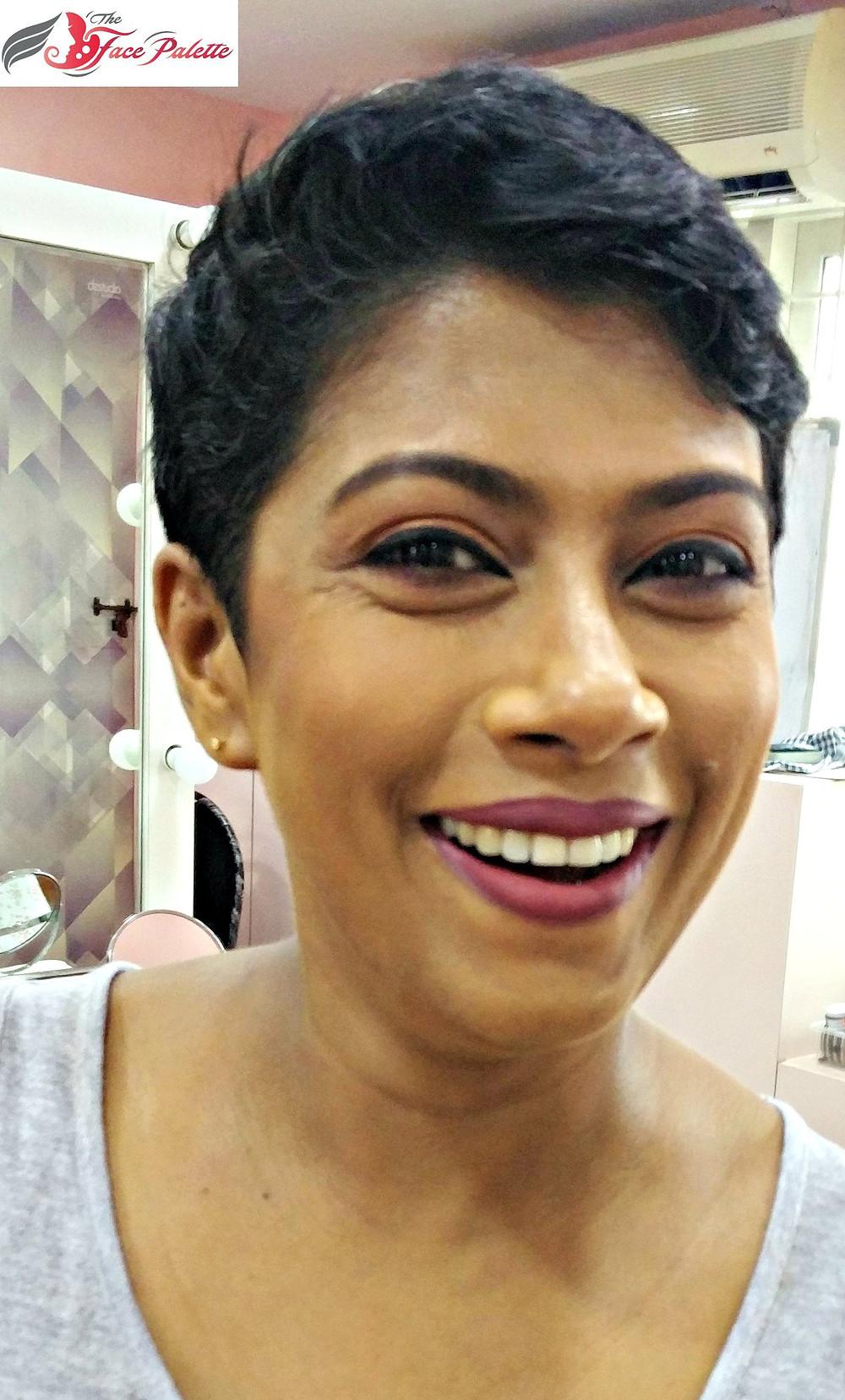 Very simple, neutral matte makeup look