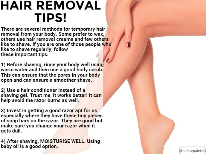 Skincare Tip 4 - Hair Removal Tips
