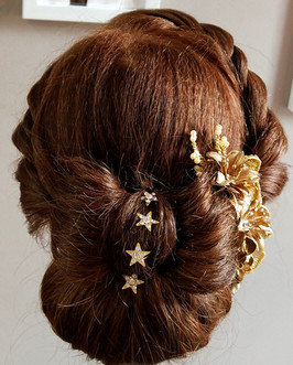 Chignon with French Braid
