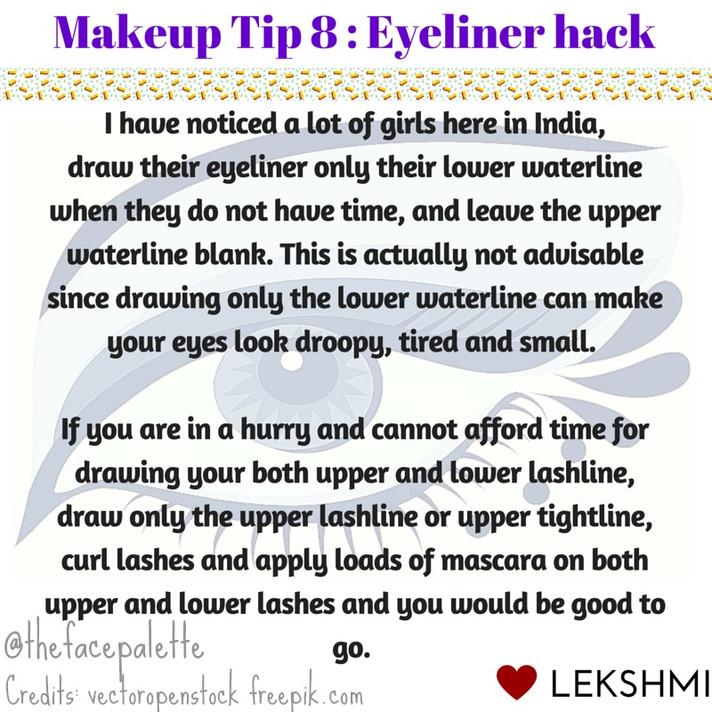 Makeup Tip 8 - Eyeliner hack | Makeup Beauty Blog