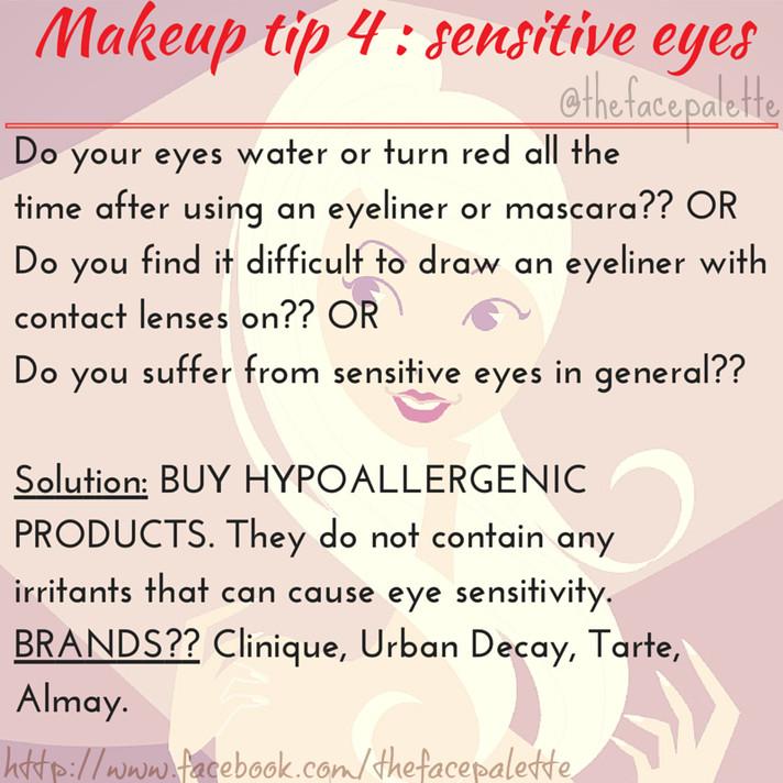 Makeup Tip 4 - Sensitive Eyes using Eyeliner | Makeup Beauty Blog