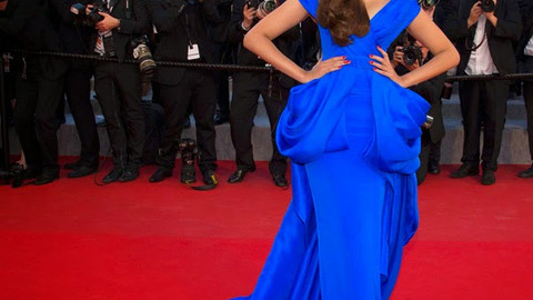 Cannes 2015 and Bollywood !! - Sonam Kapoor in Ralph and Russo Couture Review - BLUE, without a CLUE