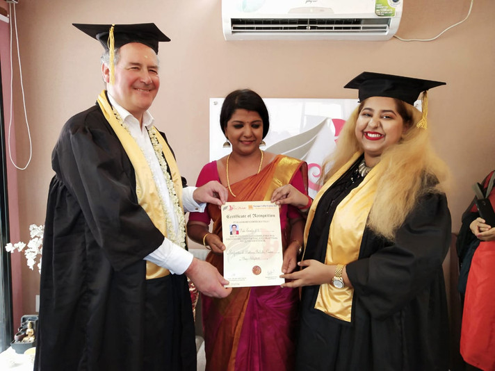 British MP felicitates Face Palette Makeup students