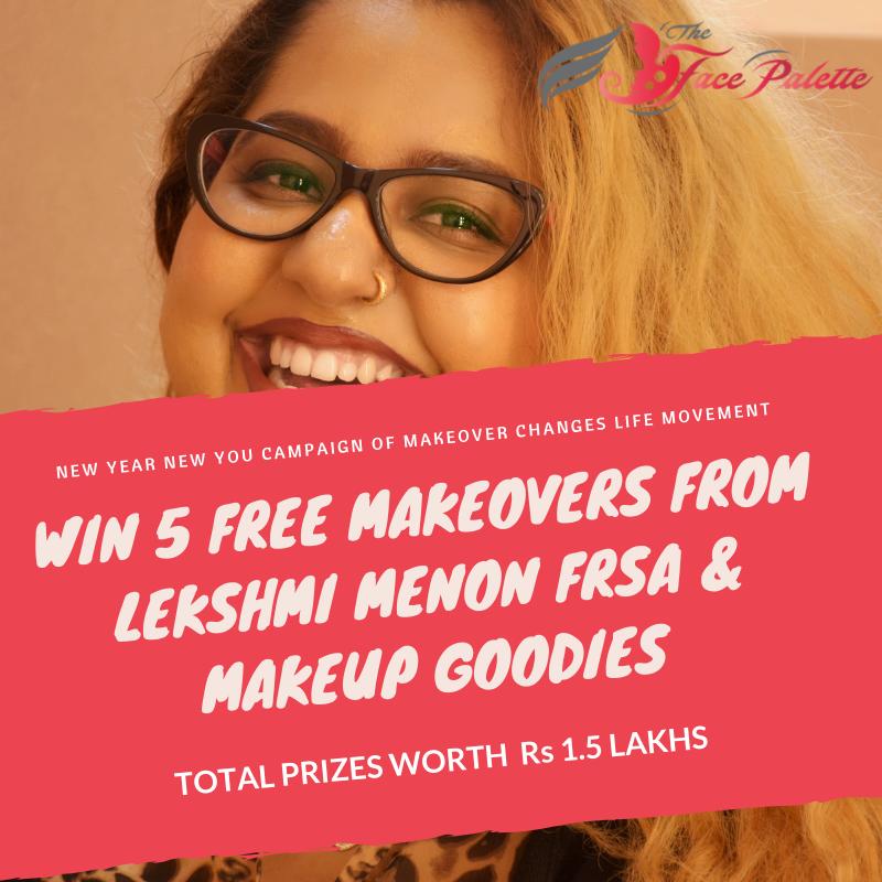 Win Free Makeovers from Lekshmi Menon FRSA