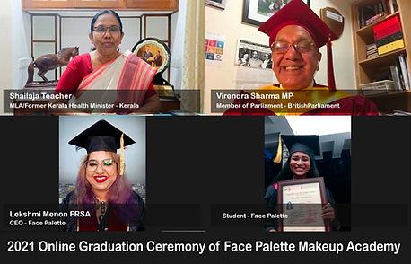 Shailaja teacher British MP Face Palette Makeup graduation ceremony.jpg