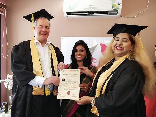 Graduation with Bob Blackman British MP