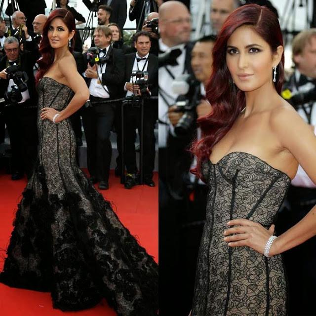 Cannes 2015 and Bollywood !! - Katrina Kaif Debut in Oscar De La Renta Review | The Face Palette Mak