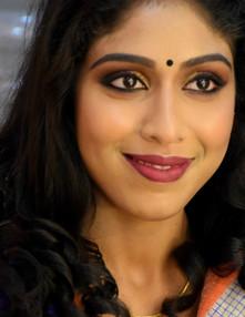 Colourful eye routine with velvet skin.J