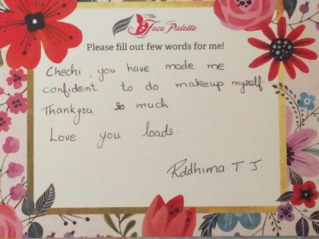 Testimonial feedback makeup classes