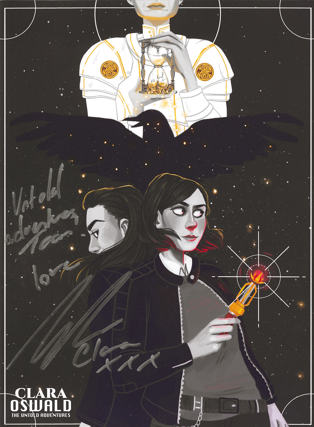 Jo Bee's poster of Clara and Me signed by Jenna Coleman