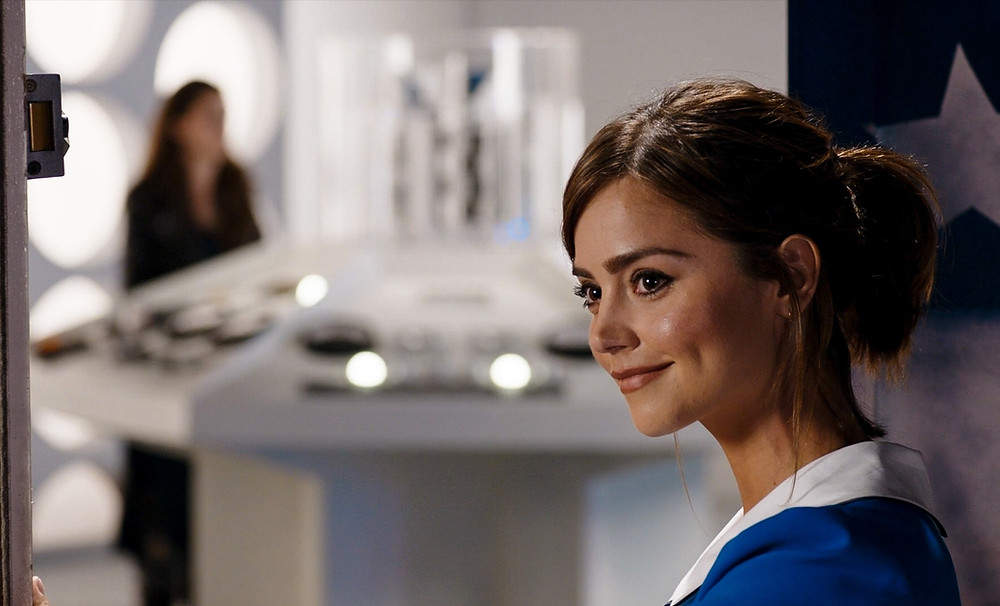 Header Image: Clara in the TARDIS doorway