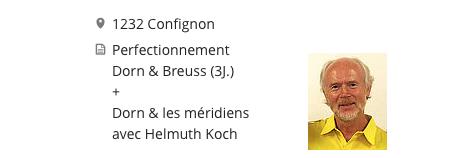 Perfectionnemnt Dorn & Breuss avec Helmuth Koch