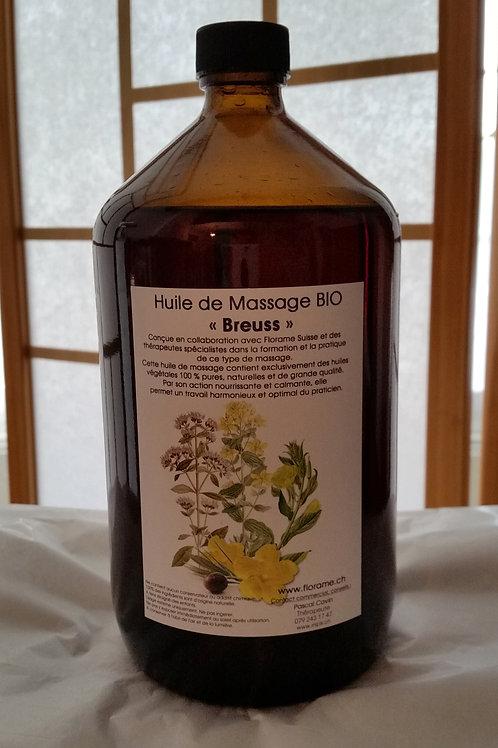 Huile de Massage BIO  « Breuss » 1 Litre