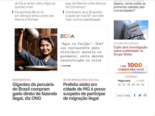 """UOL Ecoa divulga Movimento Água no Feijão no especial """"Reconstrução"""""""