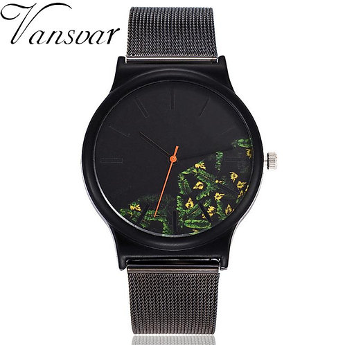 Men's Casual Quartz Stainless Steel Tropical Design