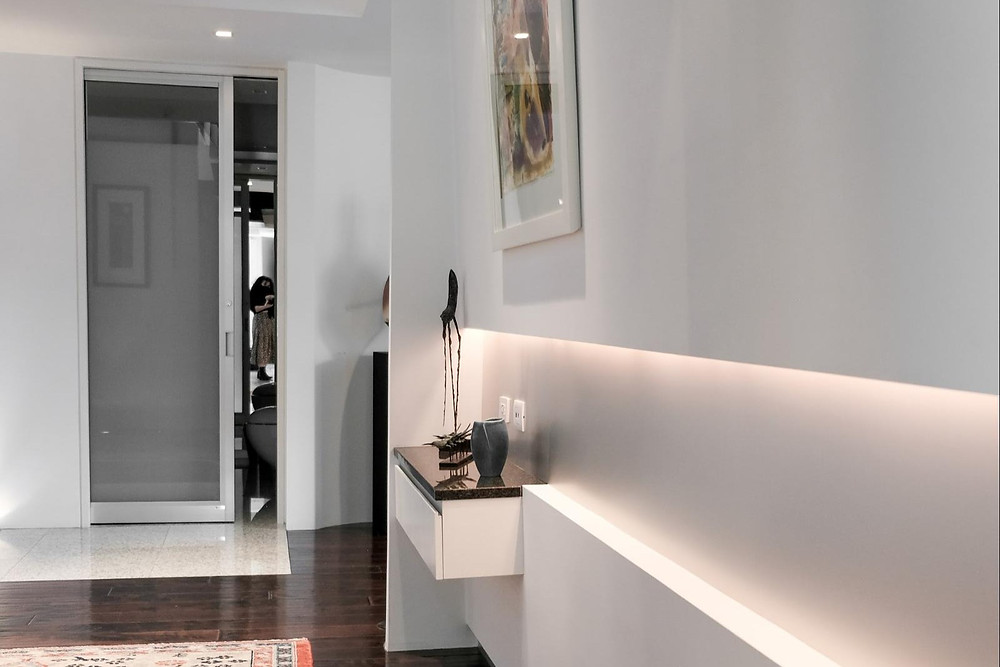 Hallway in a redesigned colonial-era home