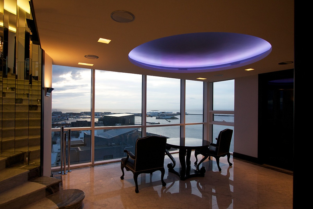 Smart lighting sets the scene in this Icelandic penthouse