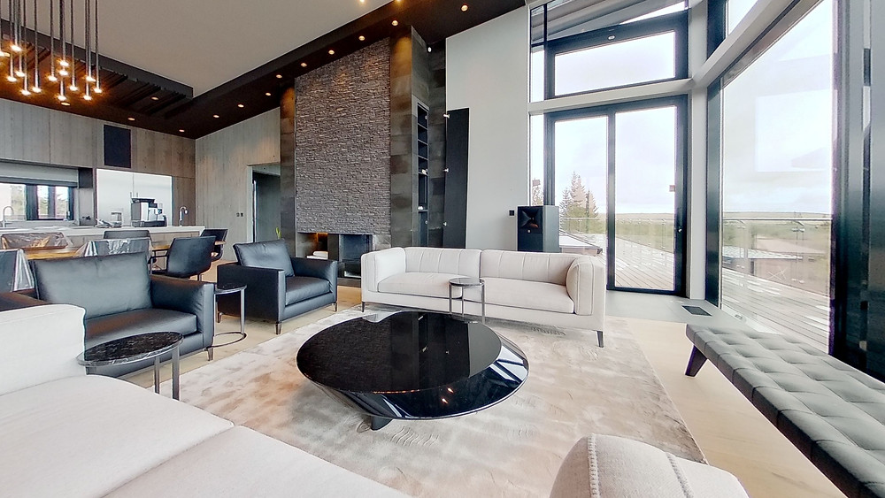 Lobby view of Pool House in Iceland