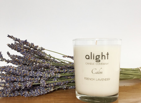 RELAX WITH A LAVENDER SCENTED CANDLE