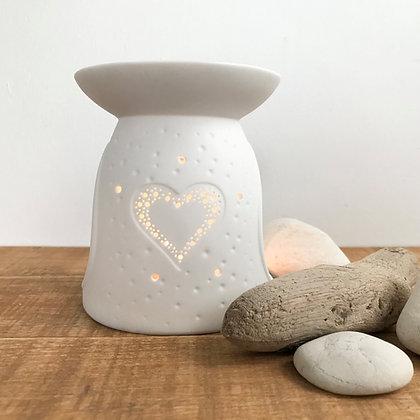 Porcelain Heart Wax Melt Burner