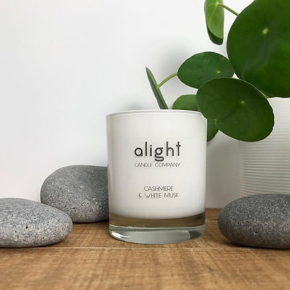 Cashmere & White Musk Soy Candle