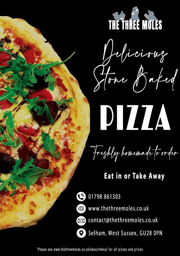 A5 Pizza Advertisement for Parish Magazi
