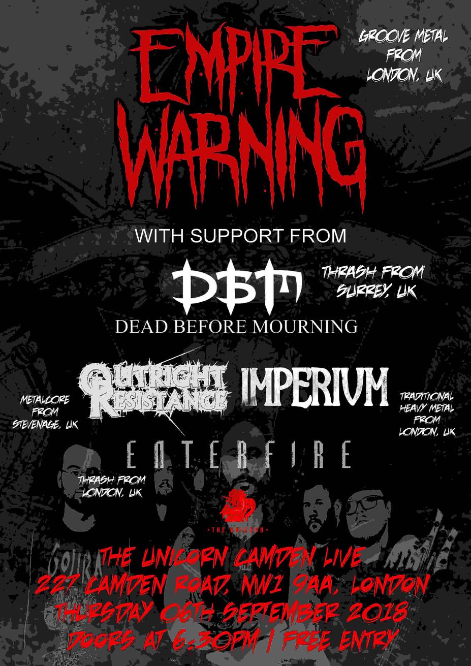 Empire Warning Gig Poster