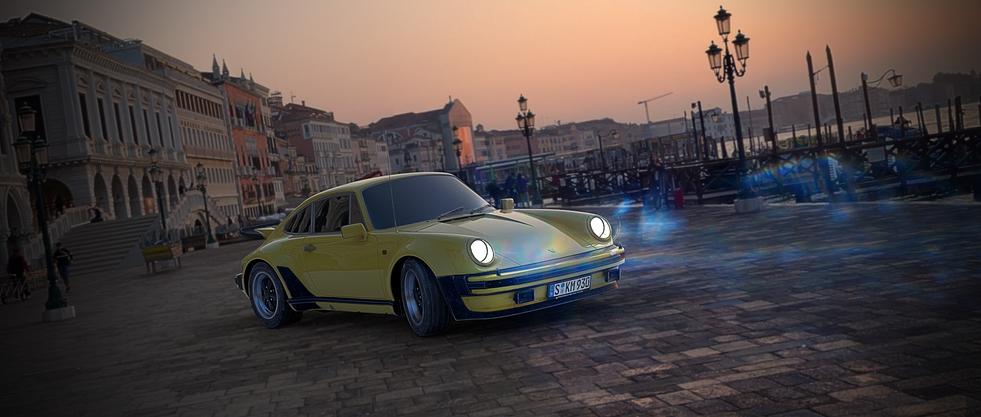 Porsche project Blender & Photoshop